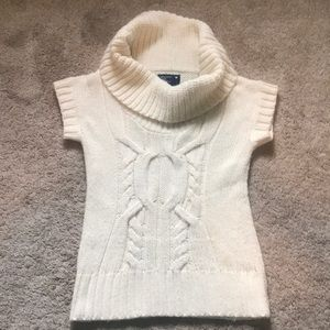 American Eagle Short Sleeve Cowl Neck Sweater
